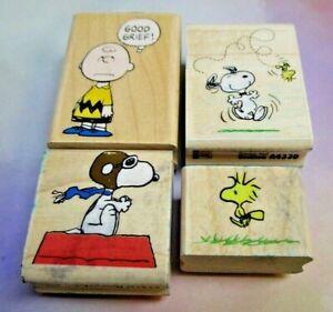 Rubber Stampede Peanuts Mounted Stamp Lot - Snoopy, Woodstock, Charlie Brown