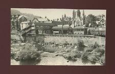 Railway Wales Denbighshire LLANGOLLEN Station from bridge Photograph 1952