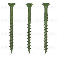 75mm PROFESSIONAL GREEN DECKING SCREWS 65mm 250 PACK 50mm FENCING LANDSCAPE
