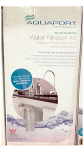 Aquaport Deluxe Collection Water Filtration Kit 1 Stage Filter Deluxe Tap