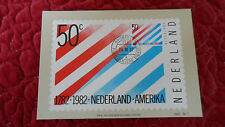 Carte maximum Maximumkaart Nederland Amerika 1982 - 50c