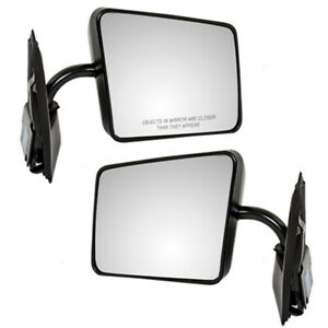 Pair Set Manual Side View Below Eyeline Mirrors for S10 S15 Jimmy/Blazer Syclone