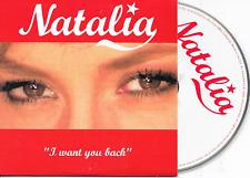 NATALIA - I want you back CD SINGLE 2TR Cardsleeve 2004 Belgium