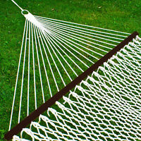 BCP Cotton Rope 2-Person Double Hammock w/ Spreader Bars, Carrying Case