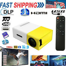 Yg300 Led Projector 1080P Projection Machine with Usb Hd +150' Projector Screen