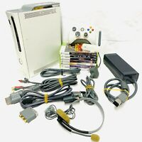 2009 Xbox 360 Console Bundle 20GB & All Accessories & 7 Games *Tested* Wireless