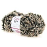 BIRCH LOLA YARN 100% POLYESTER 100G x 3 Pack -  Fluffy Faux Soft