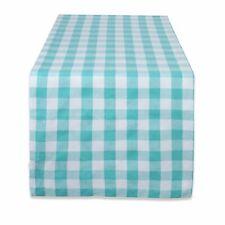 "DII 100% Cotton Machine Washable Dinner Summer & Picnic Tablecloth 60 x 84"" Aqua"