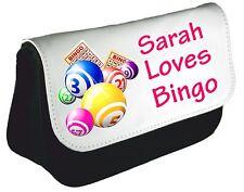 Personalised Bingo Queen Pencil Case Mom Nan Bag Dabber xmas Birthday Gift Des 2