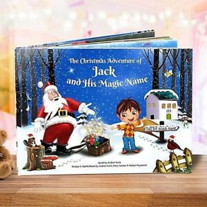 Premium Personalised Christmas Story Book for Children - Santa Claus  - HARDBACK