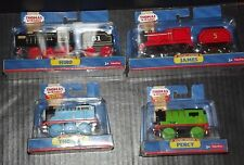 Thomas & Friends Wooden Railway Bundle of 4 Battery Operated Trains (FREE HAT)