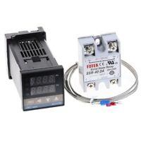 Digital PID Temperature Controller 100-240VAC + 40A SSR + K Thermocouple Sensor