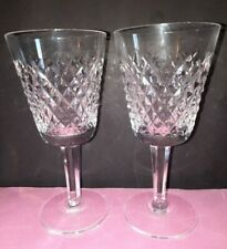 2 X Waterford Crystal ALANA  5 & 7/8 ins Wine Glasses.Etched Mark on each.