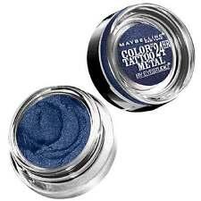 10 X MAYBELLINE COLOR TATTOO CREME GEL 24HR EYESHADOW ❤ 75 Electric Blue