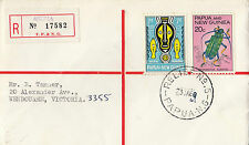 Stamp Papua New Guinea 1969 on cover sent registered AROMA Relief No5 first day