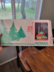 Noma Bubble Lights two Sets of 7 Bubble Lite Set Vintage