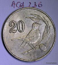 Chypre Cyprus 20 cents 1985 nickel-brass aca236