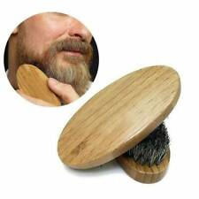 Men Boar Hair Bristle Beard Mustache Brush Military Hard Oval Wood Handle Comb @