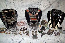 Vintage & Modern Bohemian Costume Jewelry Lot