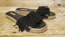 LOUISE ET CIE / VINCE CAMUTO Leather Slide Sandals Black Size 7.5