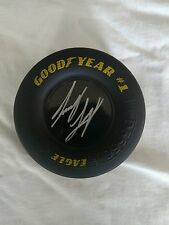 """JOEY LOGANO  Signed Goodyear Rubber Tire 3.5"""" x 1.5"""" Autographed"""