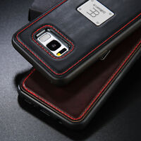 For Samsung Galaxy S8 Plus Magnetic Leather Case Shockproof Hybrid Bumper Cover