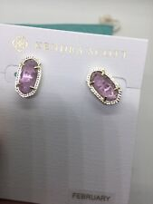 Kendra Scott Purple Lavender Ellie Stud Earrings New With Tags