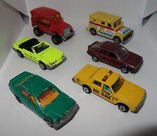 Majorette Made in France Vintage Années 1980 lot x6 Impala Mercedes Mustang ...