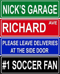 """Custom Street Sign - Make Your Own Personalized Aluminum Metal - 6""""x18"""""""