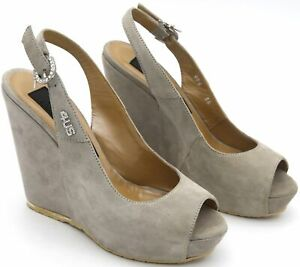 4US CESARE PACIOTTI WOMAN PUMP SANDALS SHOES WITH WEDGE CASUAL CODE HHQD6 DEFECT