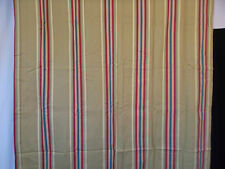 Waverly Home Classics Size 43x85 Stripe Tab Curtain Panel w/Tie Back Gold Red