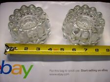 Collectible Princess House 3-Way Crystal Candle Holders - Pair