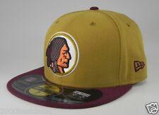 New Era 59Fifty Cap NFL Washington Redskins Mens On Field Mustard Burgundy Hat