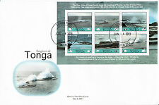 Tonga 2013 FDC colpo FORI 6V foglio COPERTURA Sfiatatoio houma BARRIERA CORALLINA