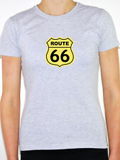 ROUTE 66 - America / Will Rogers Highway / USA / Novelty Themed Womens T-Shirt