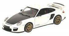 Porsche 911 (997 II) gt2 RS (white with gold color Wheels) 2011