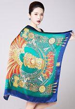"""UScarmen Women's 100% Pure Silk Square Scarf 34"""" x 34"""" 02001 Multi-Color"""