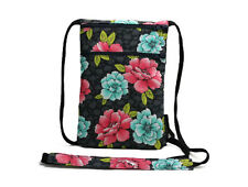 Fabric Travel Pouch, Passport Holder, Travel Accessory, Main Floral Black