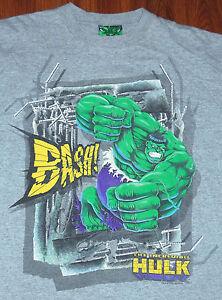 2003 Throwback The INCREDIBLE HULK GRAPHIC T SHIRT Marvel Comics SUPERHERO RARE