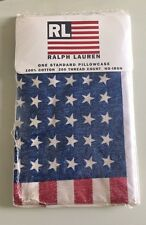 NEW POLO Ralph Lauren USA Pillow Case RL 93 92 Crest Uni Snow Beach