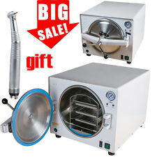 18L 900W Medical Dental Lab Autoclave Steam Sterilizer Equipment +Free Handpiece