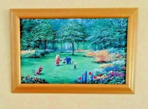 "Disney Gallery Peter Ellenshaw Pooh's Garden Framed Print Classic Pooh 26"" x 16"""
