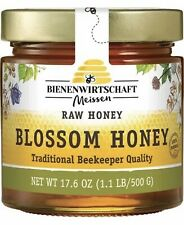 Honey Raw Blossom Product Of Germany Bienenwirtschaft 1.1LB/500g Pure Natural