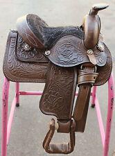"8"" Western Leather Kids Saddle Brown Miniature Toddler Saddle"