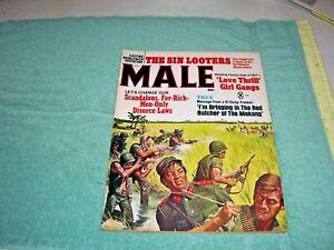 MALE Magazine, July 1967, Pulp, Sex, Horror, Vietnam War, Girl Gangs
