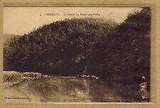 Cpa Belgique Corbion - la Semois au rocher du Pendu pub Chicorée de Bayon rp0194
