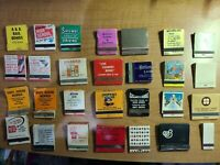 """Vintage """"Mixed Subjects"""" Paper Match Books - Used and Un-Used -  Lot Of 28"""