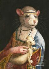 KMCoriginals Print Lady Rat with an Ermine Leonardo da Vinci Reproduction ACEO