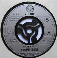 "GRAHAM BONNET - Night Games - Excellent Condition 7"" Single Vertigo VER 1"