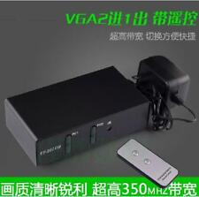 2 In 1 Out VGA switch with remote control 2 to 1 PC video switcher